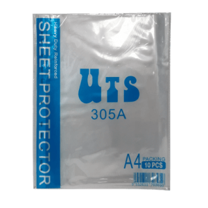 UTS-305A-A4-SHEET-PROTECTOR-11-HOLES-CLEAR-10-SHEETS