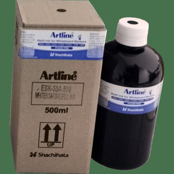 ARTLINE ESK-50A-500 REFILL INK FOR WHITEBOARD MARKERS 500ML BLACK