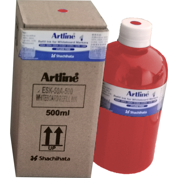 ARTLINE ESK-50A-500 REFILL INK FOR WHITEBOARD MARKERS 500ML RED