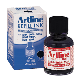 ARTLINE ESK-50A REFILL INK FOR WHITEBOARD MARKERS 20ML BLACK