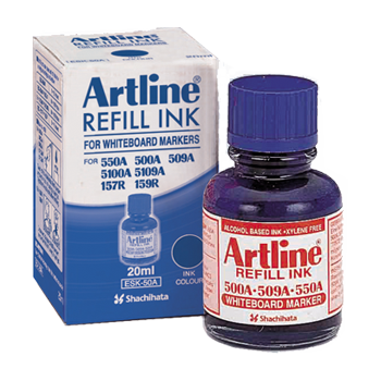 ARTLINE ESK-50A REFILL INK FOR WHITEBOARD MARKERS 20ML BLUE