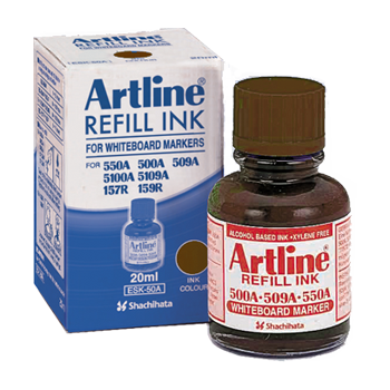 ARTLINE ESK-50A REFILL INK FOR WHITEBOARD MARKERS 20ML BROWN
