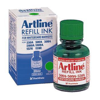 ARTLINE ESK-50A REFILL INK FOR WHITEBOARD MARKERS 20ML GREEN