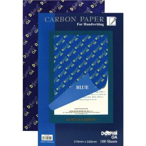 DOLPHIN HAND WRITING CARBON PAPER BLUE (100 SHEETS)