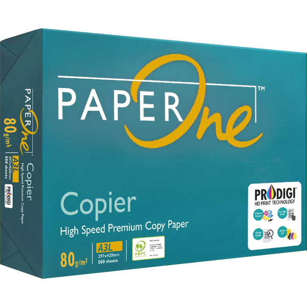PAPERONE A3 80GSM COPIER PAPER WHITE