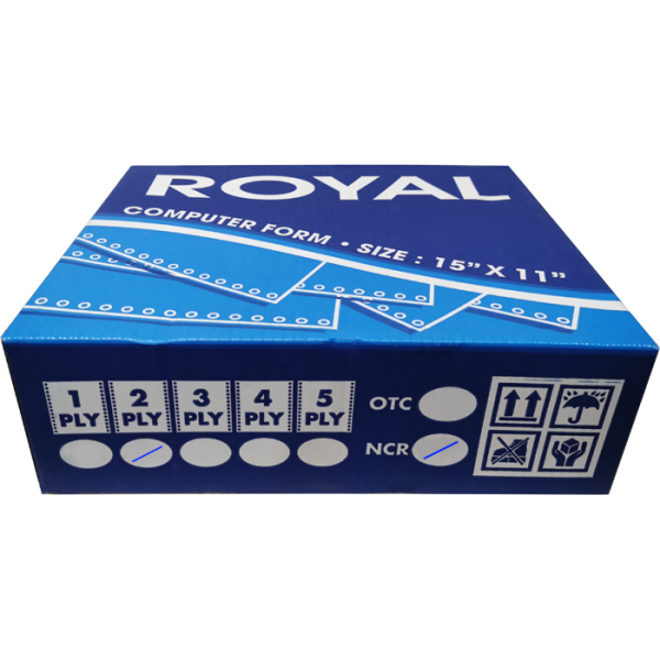 ROYAL A3 2 PLY NCR BLANK COMPUTER FORM (500 FANS) (55GSM)