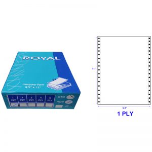 ROYAL A4 1 PLY WOODFREE BLANK COMPUTER FORM (1000 FANS) (60GSM)