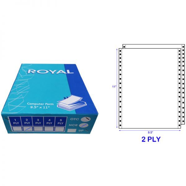 ROYAL A4 2 PLY NCR BLANK COMPUTER FORM (500 FANS) (55GSM)