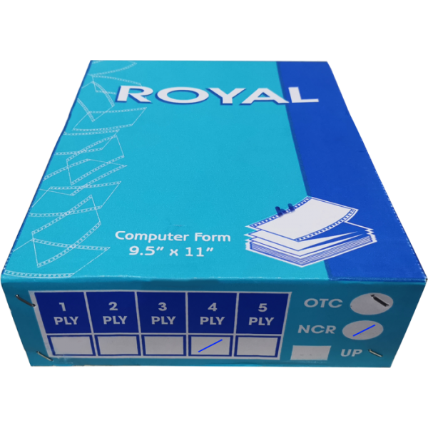 ROYAL A4 4 PLY NCR BLANK COMPUTER FORM (250 FANS) (55GSM)