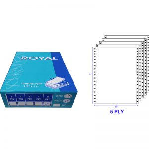 ROYAL A4 5 PLY NCR BLANK COMPUTER FORM (200 FANS) (55GSM)