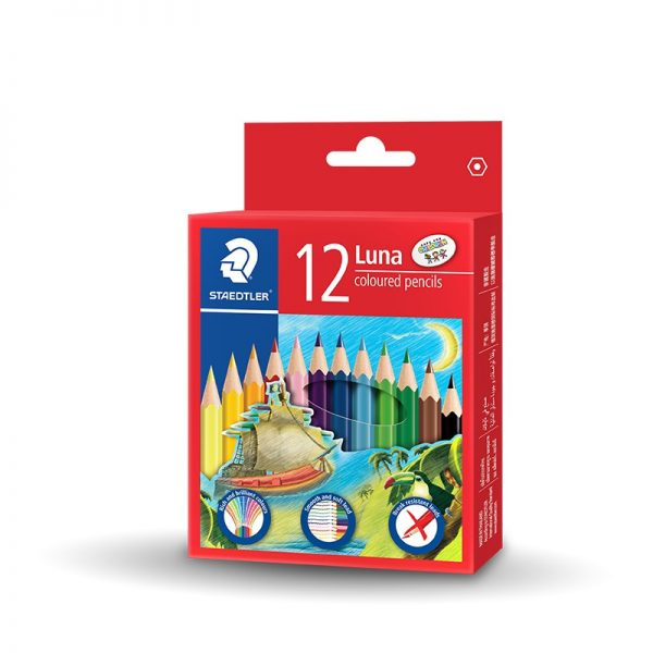 STAEDTLER LUNA 136 COLOUR PENCIL 12 COLOURS SHORT