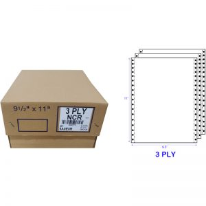 SONOFORM A4 3 PLY NCR BLANK COMPUTER FORM (1000 FANS) (55GSM)