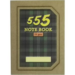555 SMALL NOTE BOOK 70GSM (105MM X 80MM)