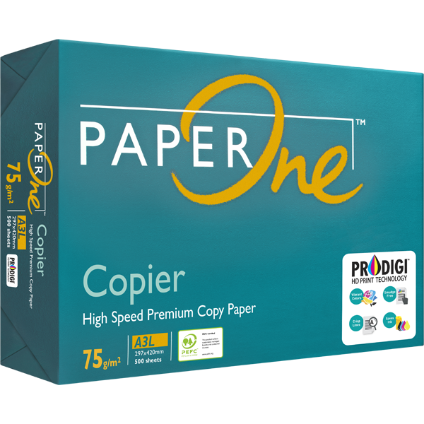 PAPERONE A3 75GSM COPIER PAPER WHITE